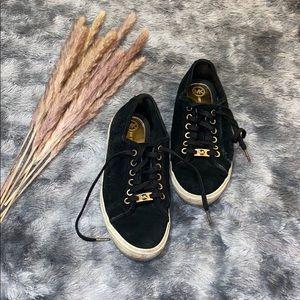 MK suede black & gold sneakers
